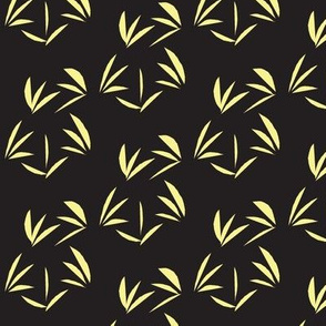 Buttery Yellow Oriental Tussocks on Charcoal