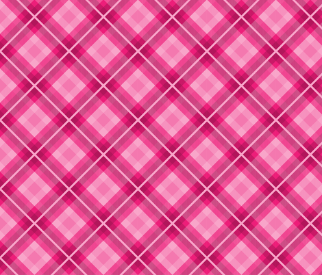 Hot pink plaid fabric by southpawmiller on Spoonflower - custom fabric