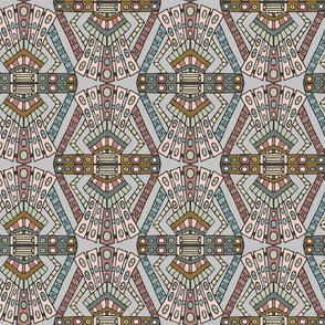 Art Deco pattern - pinks