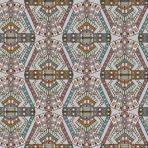 Art Deco pattern - pinks