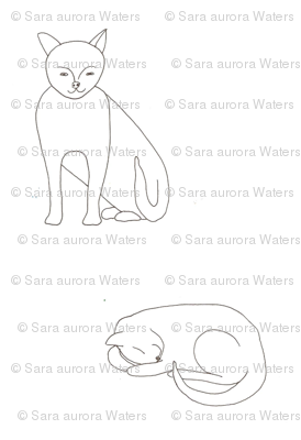 Cats by Sara Aurora Waters