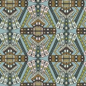 Art deco pattern - teal
