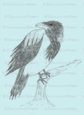 Blue Crow by Sara Aurora Waters