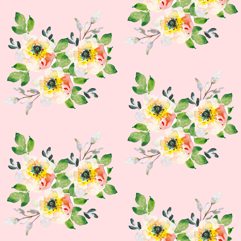 Coral Floral - Pink fabric by shopcabin on Spoonflower - custom fabric