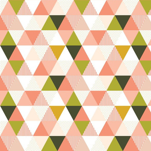 Triangle Wholecloth - Spring Blush (Medium)