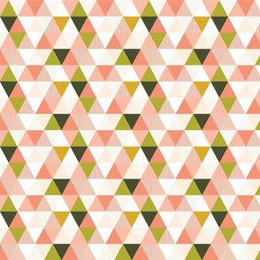 Triangle Wholecloth - Spring Blush (tiny)