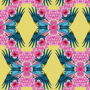 Mirrored Macaw Tropical Print