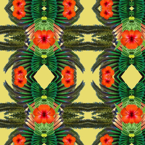 Mirrored Macaw Green Print
