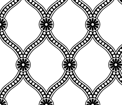Prima Donna - Black and White Large fabric by penina on Spoonflower - custom fabric