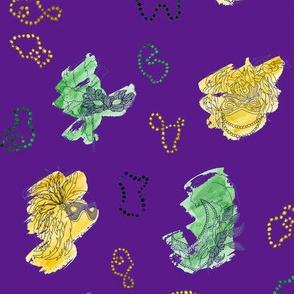 Purple Mardi Gras Small Pattern