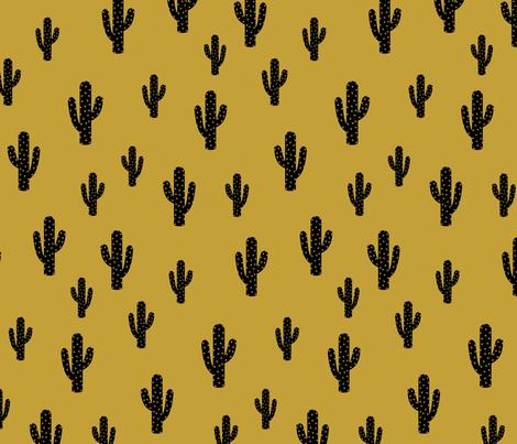 Cactus - Mustard fabric by kimsa on Spoonflower - custom fabric
