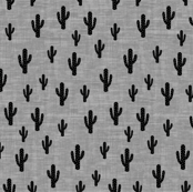 Cactus -Black GrayTexture