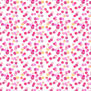 tickled pink confetti dot