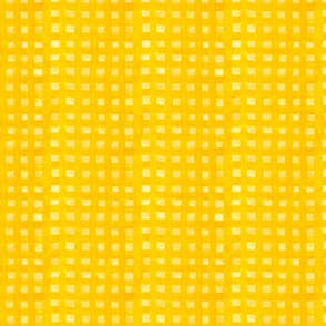 yellow oil paint gingham