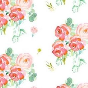 Soft Roses - White