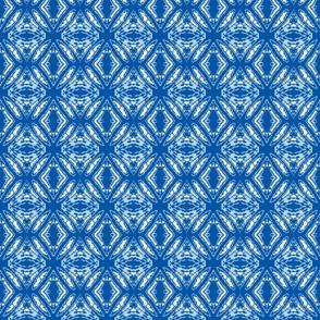 Flower Burst Blue/White