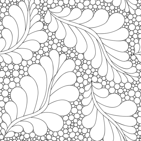 Feathers and Pebbles Black & White fabric by leah_day on Spoonflower - custom fabric