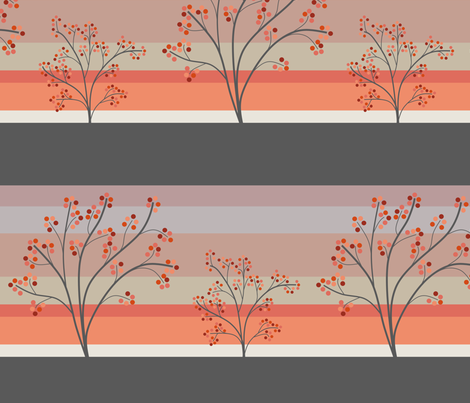 March_Landscape_with_Berry_Trees fabric by coloursoffrance on Spoonflower - custom fabric