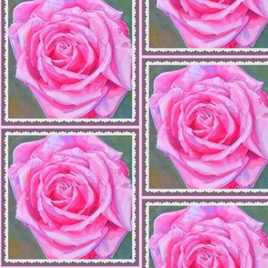 Painted Rose Postage Stamp