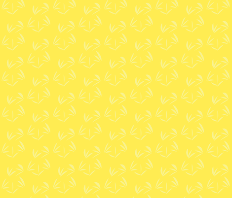 Buttery Yellow Oriental Tussocks on Lemon Fizz - Large Scale fabric by rhondadesigns on Spoonflower - custom fabric