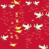 Golden - Origami Birds 3