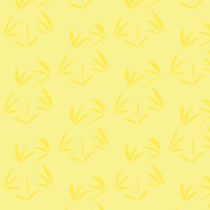 Lemon Fizz Oriental Tussocks on Buttery Yellow