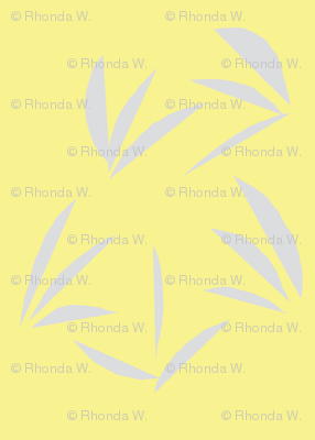 Silver Mist Oriental Tussocks on Buttery Yellow - Medium Scale