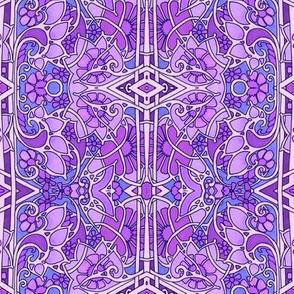 Rainbow of Flowers (purple)