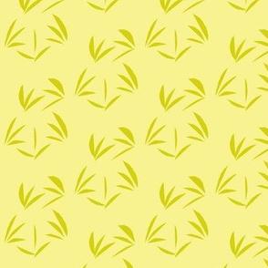 Bush Lemon Tussocks on Buttery Yellow - Small Scale