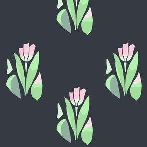 tulips_on_black