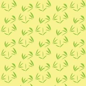 Greenwood Oriental Tussocks on Buttery Yellow