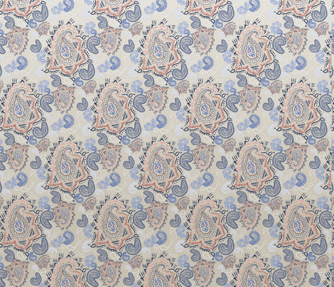 SS2017-0049-FANCY_PAISLEY_2_-_REPEAT_50_-W_OMBRE fabric by tresbondesign on Spoonflower - custom fabric