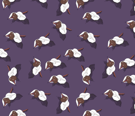 Purple Spindles  fabric by luvinewe on Spoonflower - custom fabric