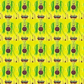 yellow ukulele!