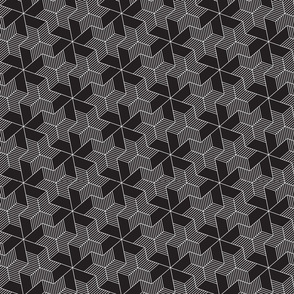 black pinwheels and stars