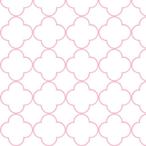quatrefoil 2 Medium -  white petal