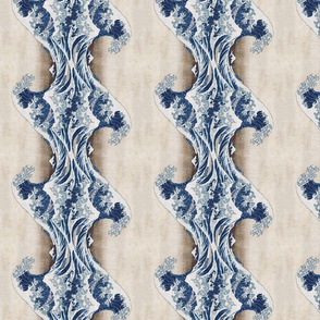 Great Wave Stripes Vertical