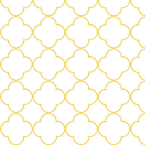 quatrefoil 2 Medium -  white creamsicle