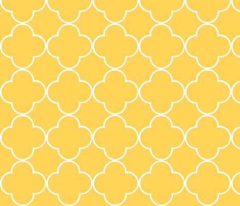quatrefoil 2 Medium -  creamsicle fabric by drapestudio on Spoonflower - custom fabric