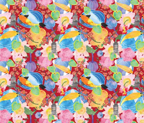 Koi fish fabric cathleenbronsky spoonflower for Koi fish material