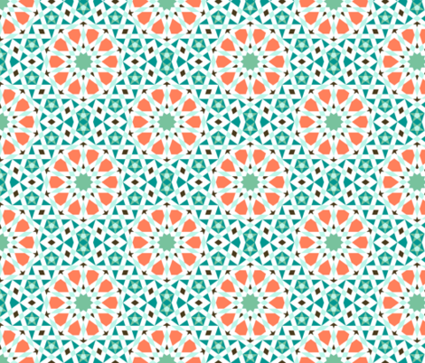 05279346 : UA5 V* : surf-side pool mosaic fabric by sef on Spoonflower - custom fabric