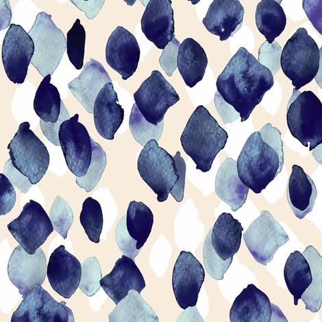 Indigo Rain fabric by crystal_walen on Spoonflower - custom fabric