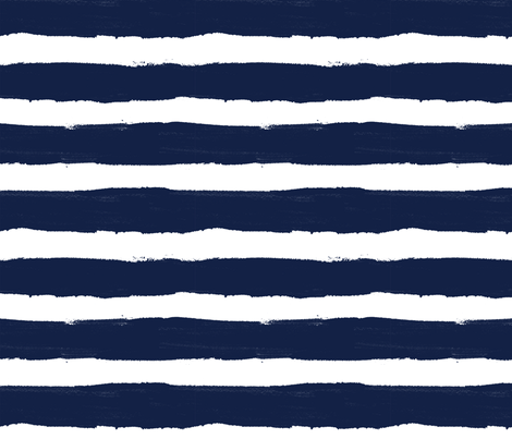 Thick Stripe Navy fabric by crystal_walen on Spoonflower - custom fabric