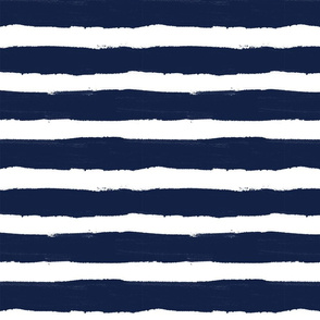 Thick Stripe Navy