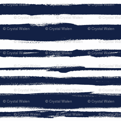 brush Stripe 2 Navy