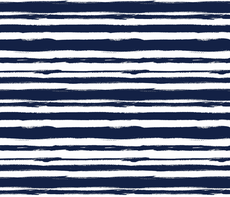 brush Stripe 2 Navy fabric by crystal_walen on Spoonflower - custom fabric