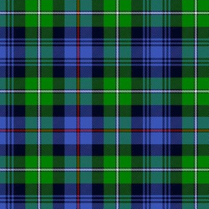 "Mackenzie / Seaforth Highlander tartan, 6"", modern colors"