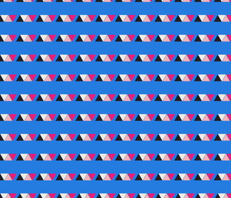 BLUE GEOMETRIC fabric by rose_and_stone on Spoonflower - custom fabric