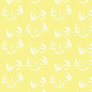White Tussocks on Buttery Yellow  Medium Scale