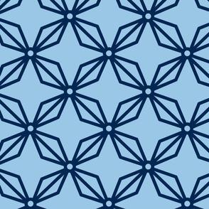 Blue sashiko stars